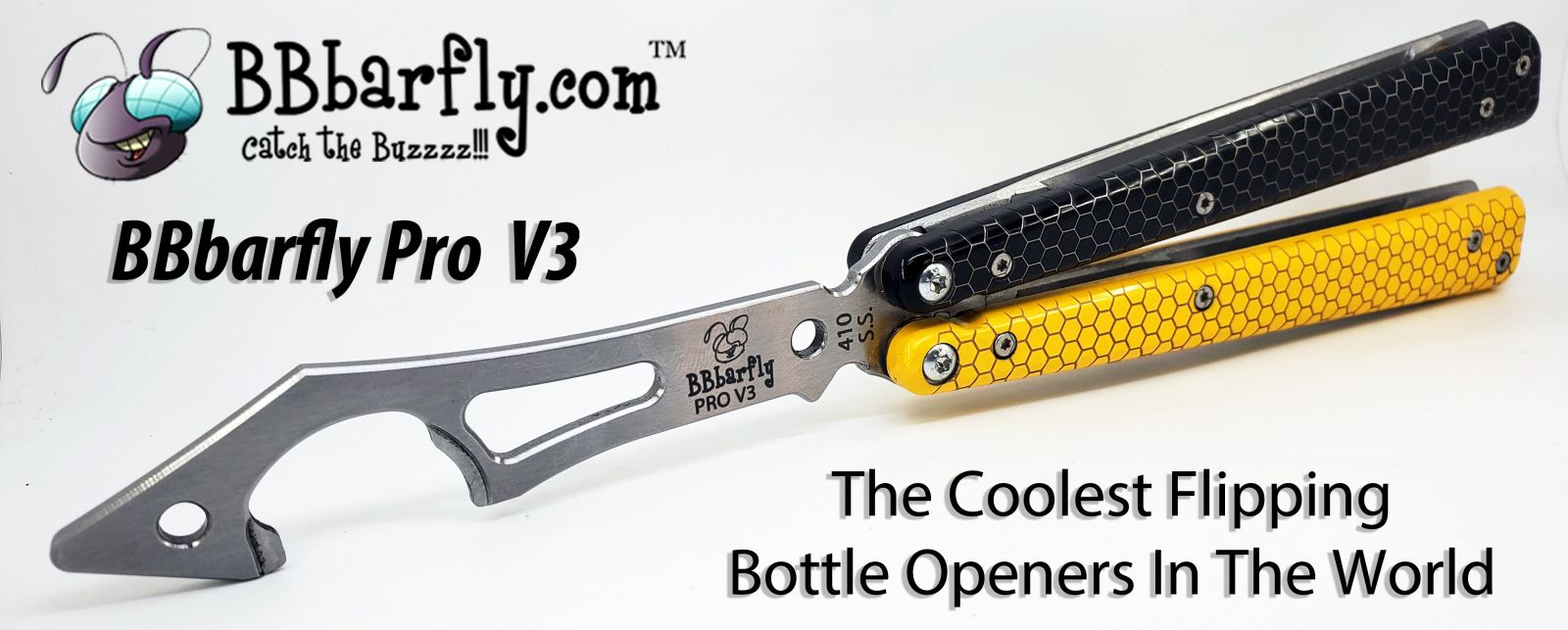 Knife Style Black and Yellow Handles Pro V3